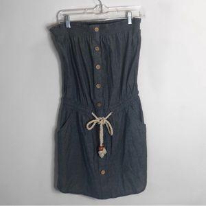 Sleeveless Blue Derek Heart cotton tied dress!